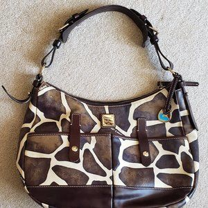 Dooney & Bourke Giraffe Print Hobo Bag